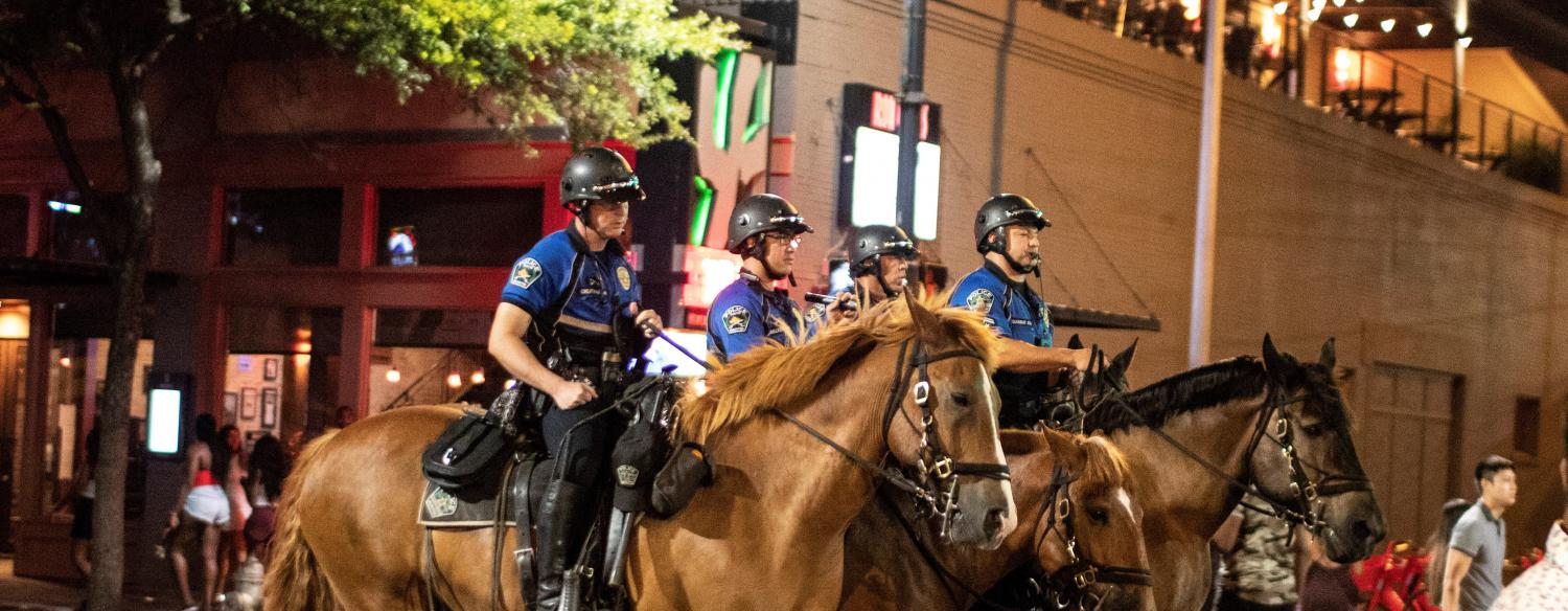 Mounted Patrol Officers Downtown